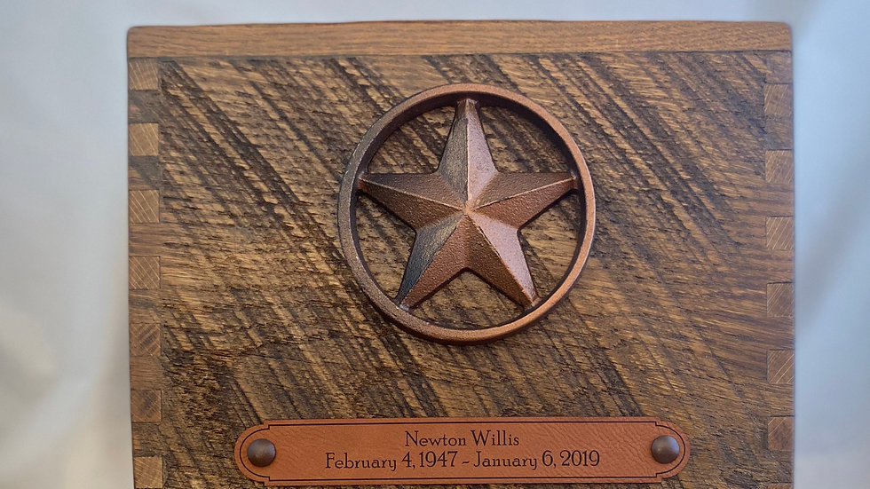 Reclaimed Barn Wood   Star   Apricot Syrup