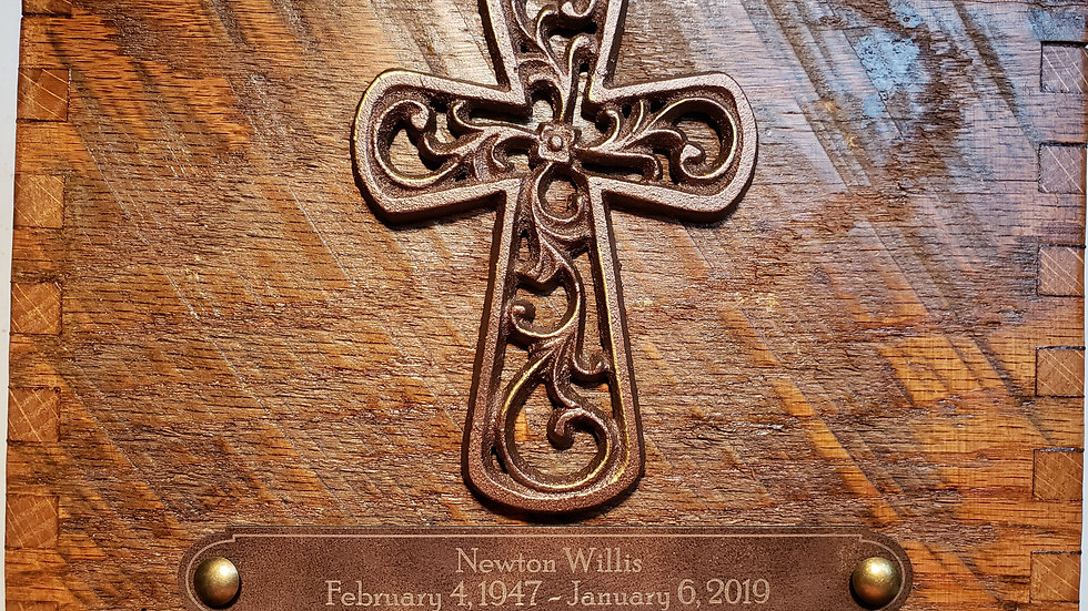 Reclaimed Barn Wood | Filigree Cross | Autumn Cider