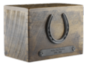 Reclamed barnwood cremation urn