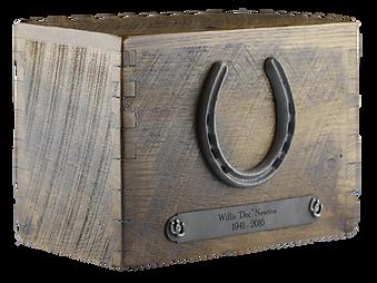 Reclaimed barnwood cremation urn