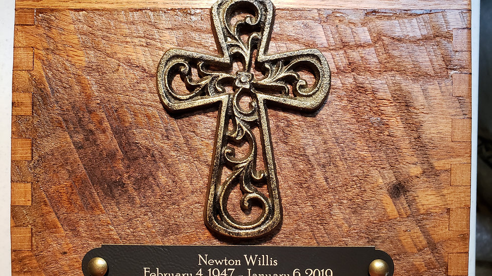 Reclaimed Barn Wood | Filigree Cross | Antique Bronze