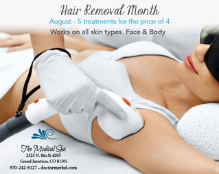 Hair removal. Don't miss this special...sign up before Aug 31st.