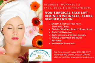 Non-Surgical Face Lift, Diminish Wrinkles, scars, discoloration.