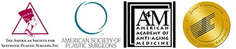 Accredited by American Society for Aesthetic Plastic Surgery, American Socitey of Plastic Surgeons, American Academy of Anti-aging Medicine, Join commission National Quality Approval