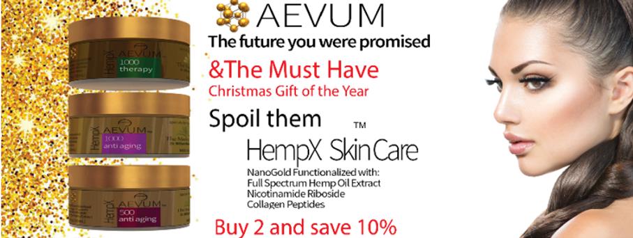 CBD skin care, hemp, nano gold, peptides all combine for anti aging skin cream