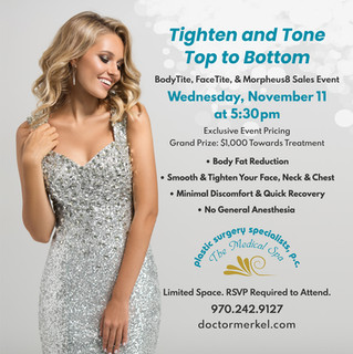Join us Wed, Nov 11th for BodyTite, FaceTite and Morpheus8 Sales Event