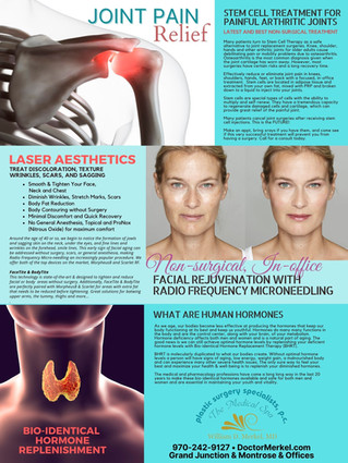 Stem Cell Treatments, Laser Aesthetics & Hormones for a more youthful you.