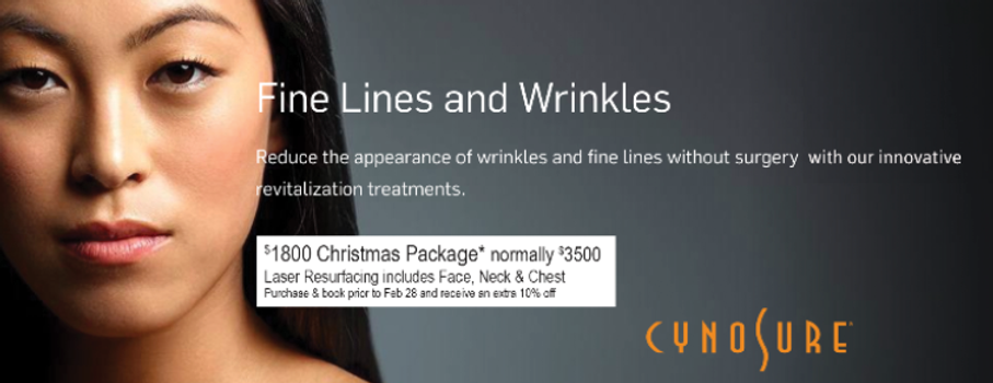 reduce fine lines and wrinkles wih cynosure