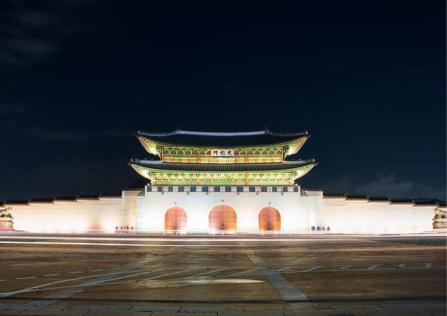 Gwanghwamun gate at Geyongbokgung Palace