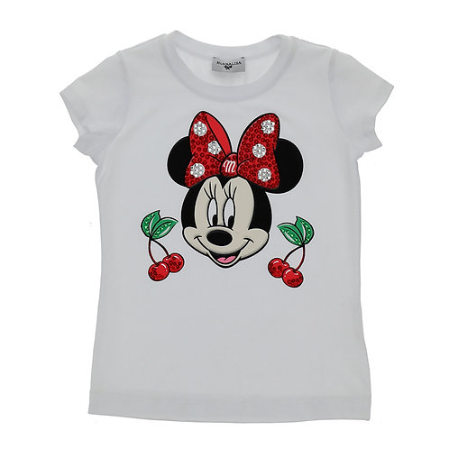 T-SHIRT MINNIE BLANCO MONNALISA