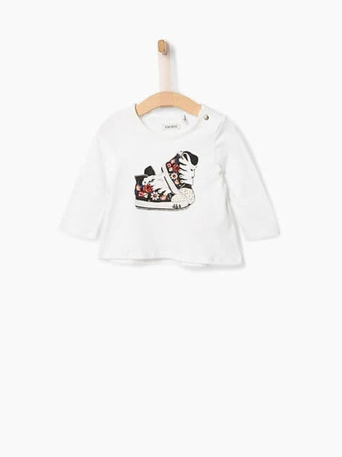 T-SHIRT MANGA LARGA BLANCO IKKS