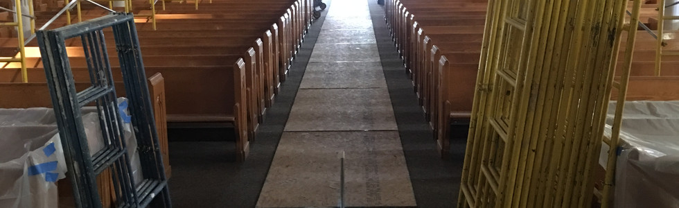 View of the interior from the sanctuary.