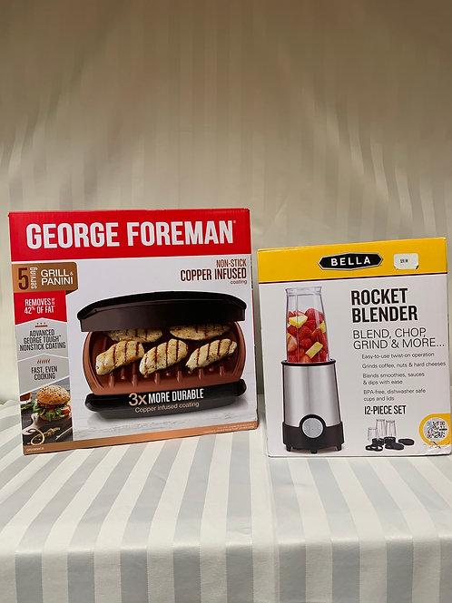 George Foreman Grill and Bella Rocket Blender