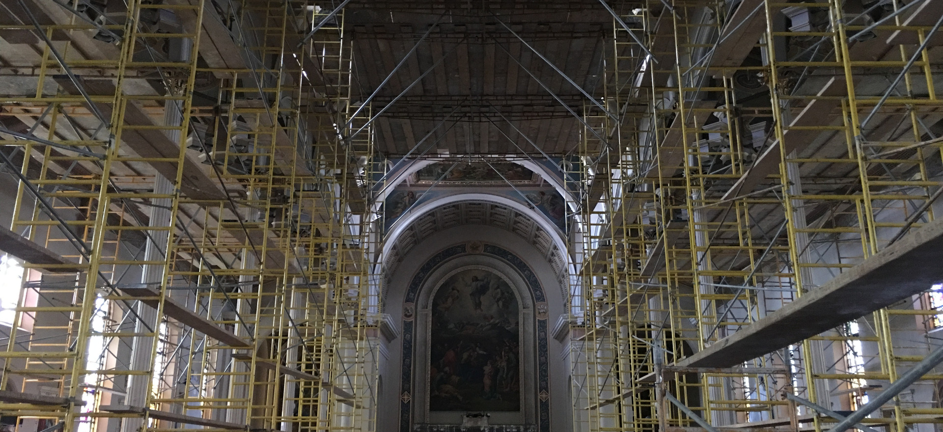 View of the interior from the vestibule.
