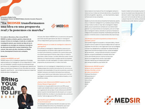 We spoke with Roldán Cortés, Director of Development and Marketing of MEDSIR