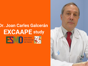 Dr. Joan Carles Galcerán presents results from the EXCAAPE clinical trial at ESMO 2020