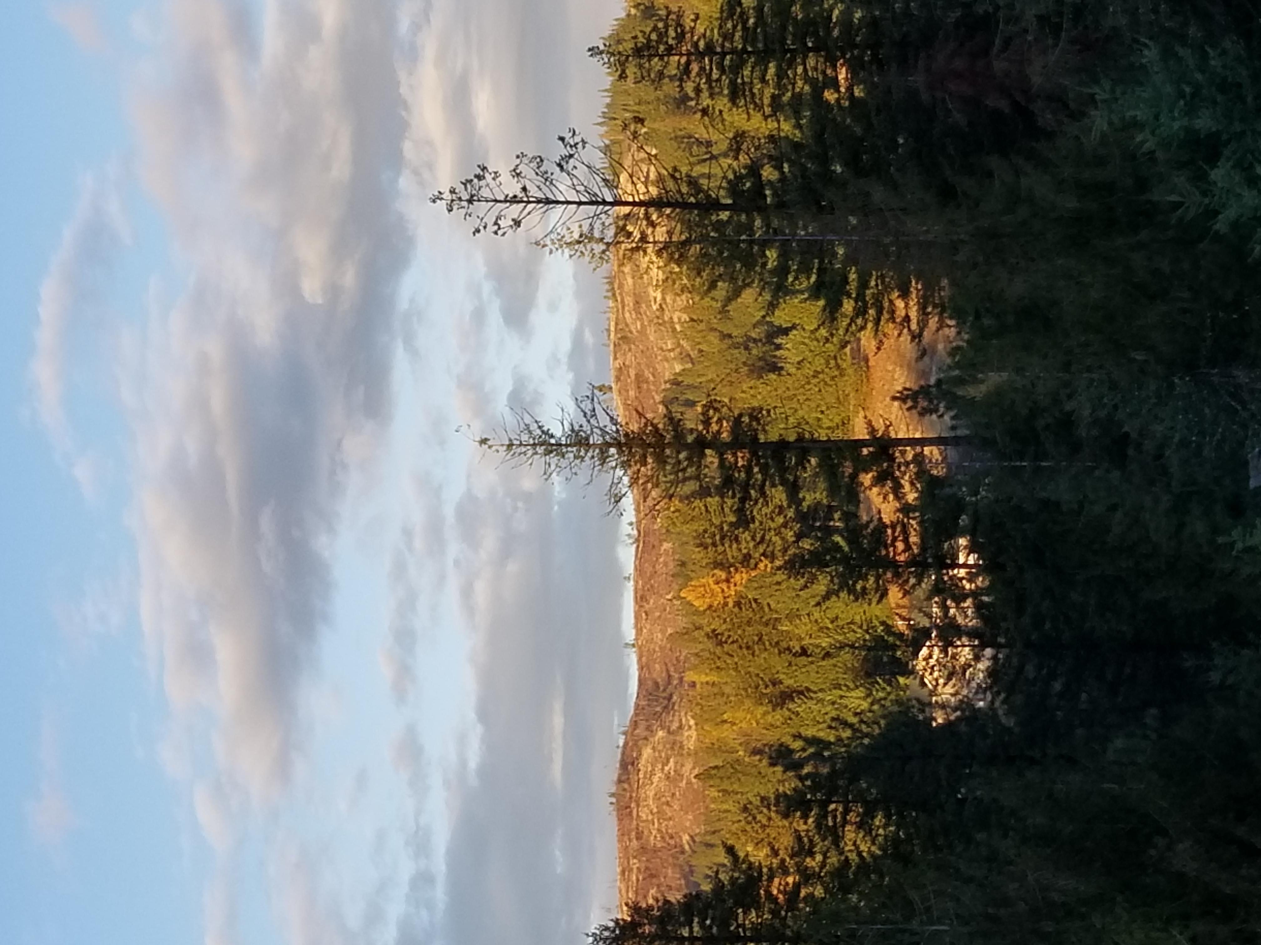 sun spot on mountain top