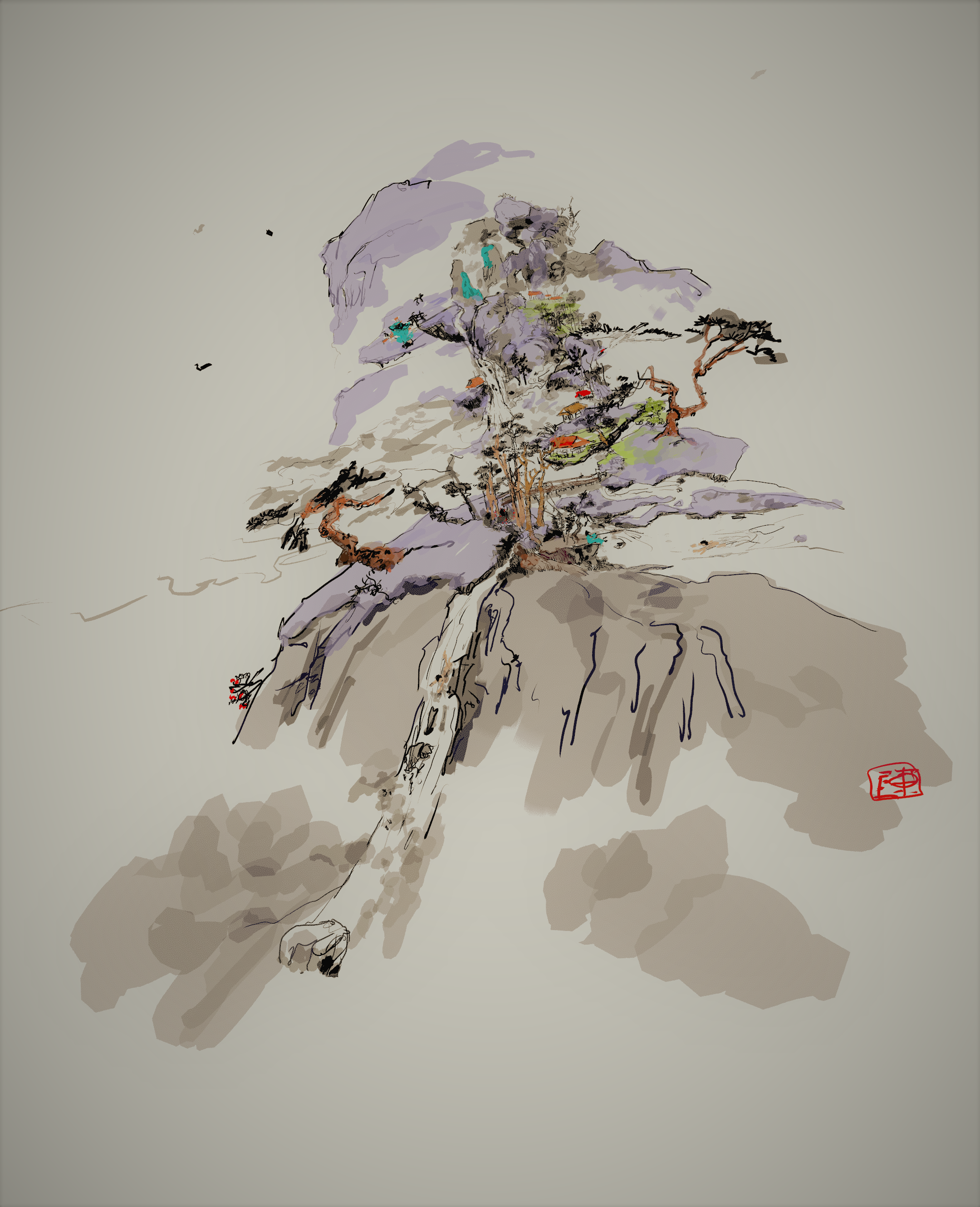 a remake of ancient Chinese painting