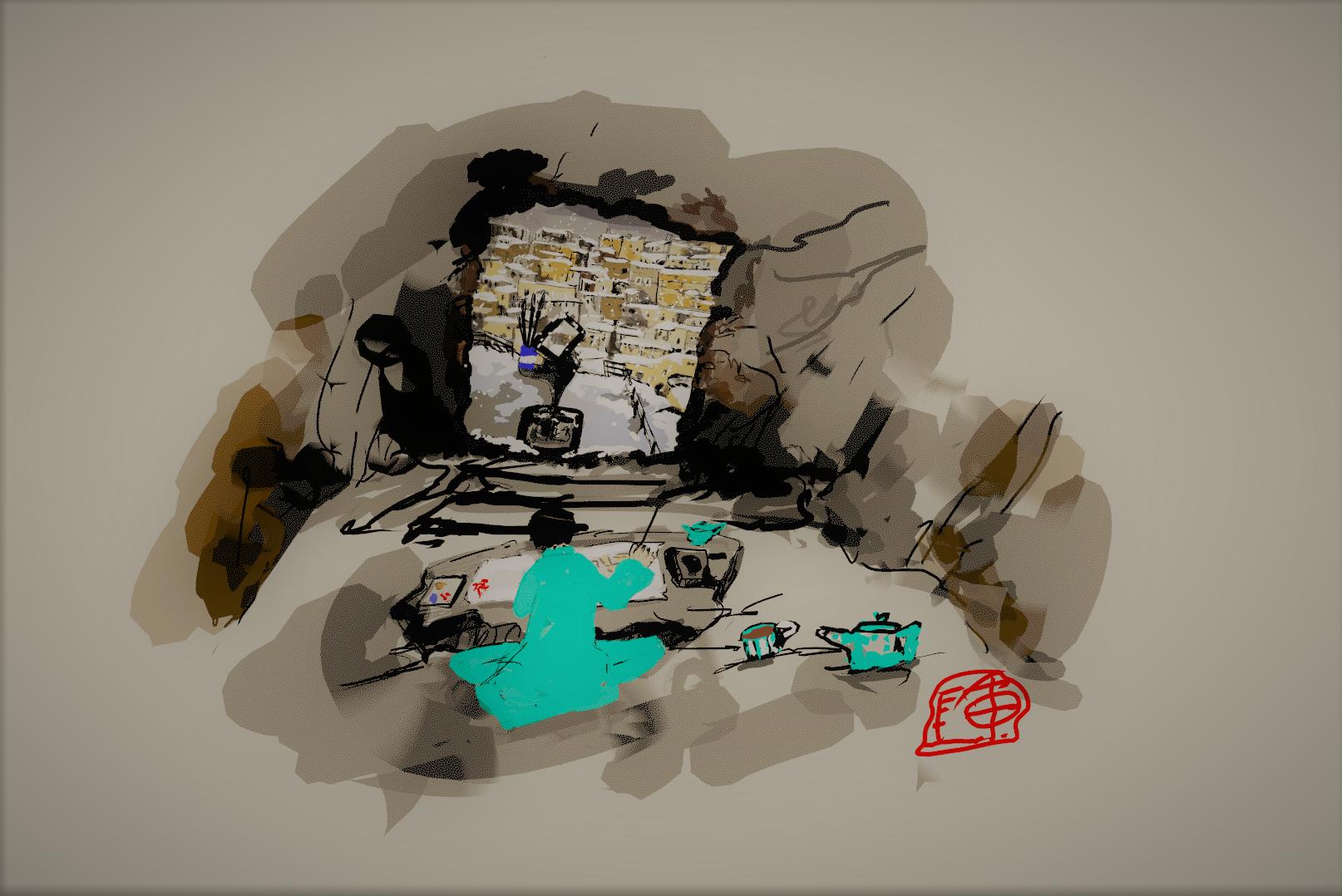 TEMI and i in Matera cave