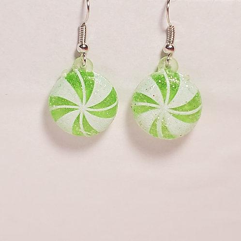 Green peppermint earrings
