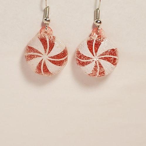 Red peppermint earrings