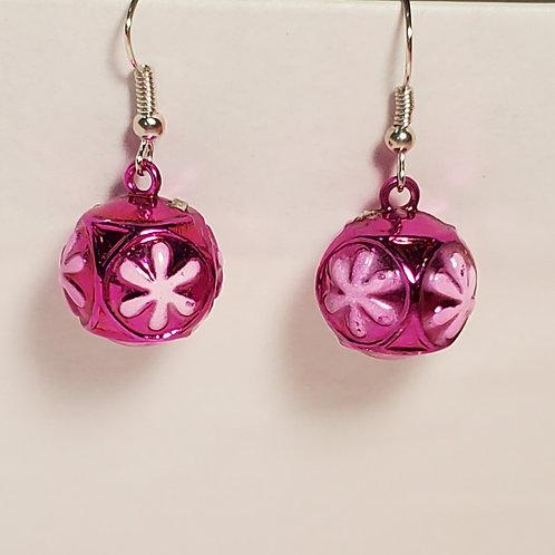 Pink ornament earrings