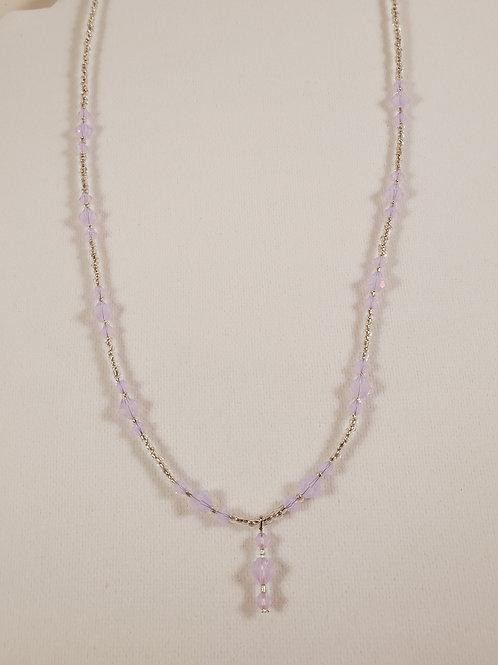 Swarovski light-pink necklace