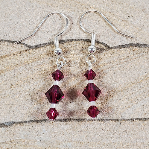 Swarovski earrings (click for color options)