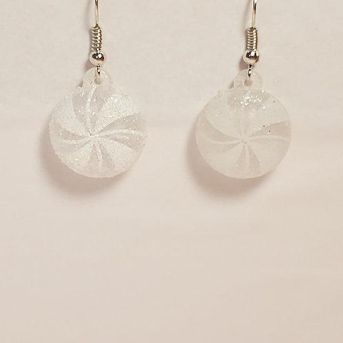 White peppermint earrings