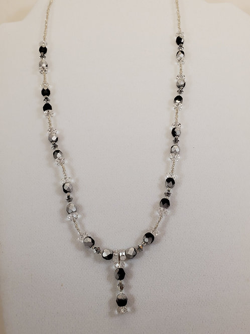 Black and white swarovski necklace