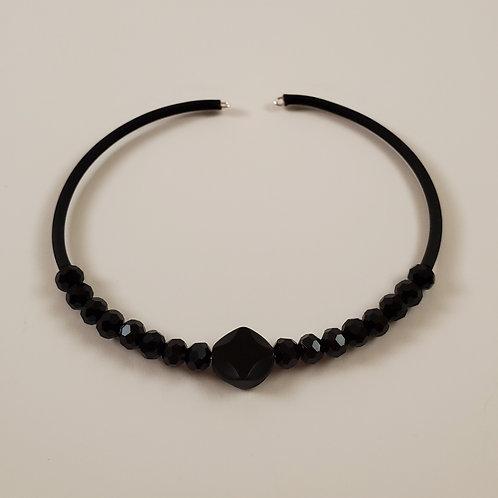 Black memory-wire bracelet