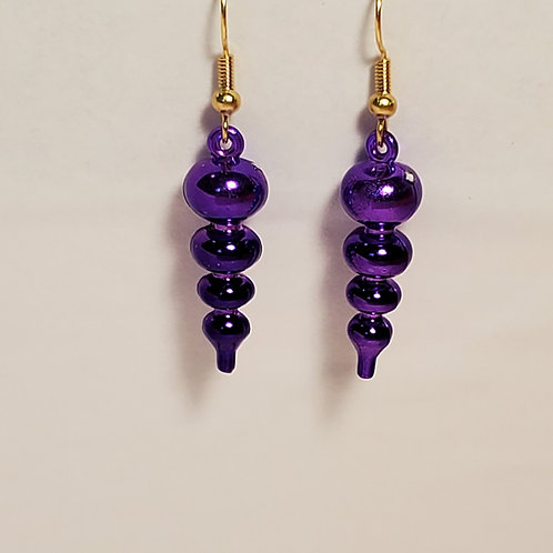 Purple ornament earrings