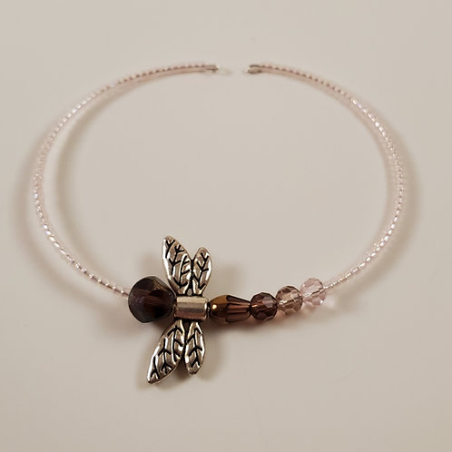 Dragonfly memory-wire bracelet