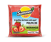 Polpa de Fruta Morango Summer Fruit Guarapari