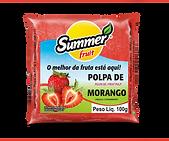 Polpa de Fruta Morango Summer Fruit Guarapari