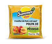 Polpa de Fruta Pêssego Summer Fruit Guarapari