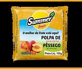 Polpa de Fruta Pêssego Summer Fruit Guarapari