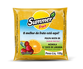 Polpa de Fruta Acerola Com Suco de Laranja Summer Fruit Guarapari
