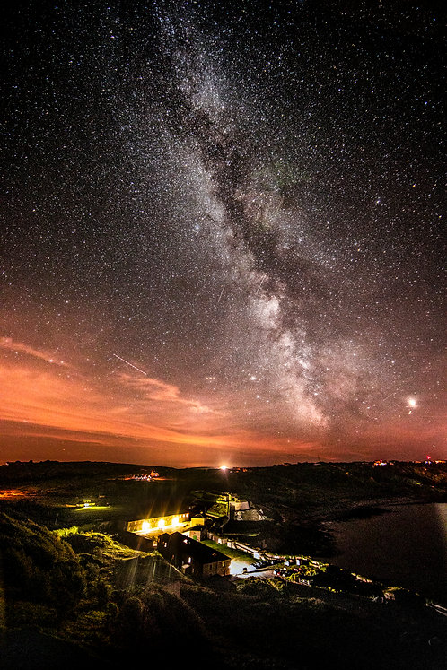 Milkyway over Fort and Braye Beach