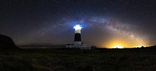 Alderney Lighthouse - Full Length Milky Way