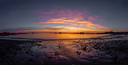 Grande Rock Sunset Pano - Guernsey