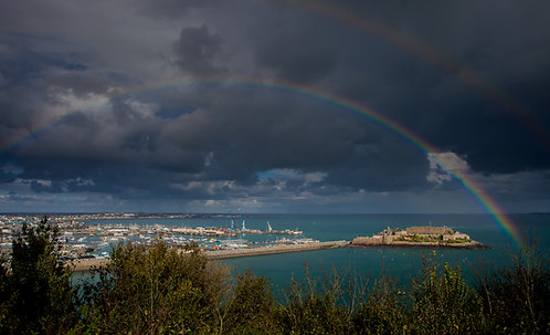 St Peter Port - Double Rainbow, Guernsey