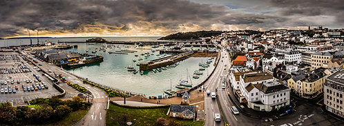 St Peter Port Guernsey -Top of the Tree of Joy Pano