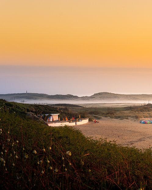 Herm - Shell Beach Low Sunrise Mist (Portrait) - 2021