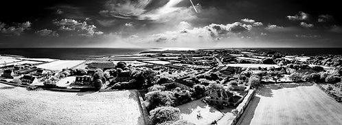 INFRARED Top of Torteval Church - looking  south