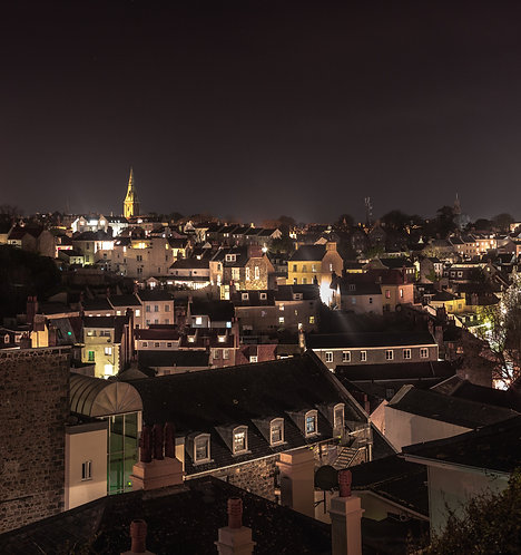Roof tops of Trinity Square - Guernsey