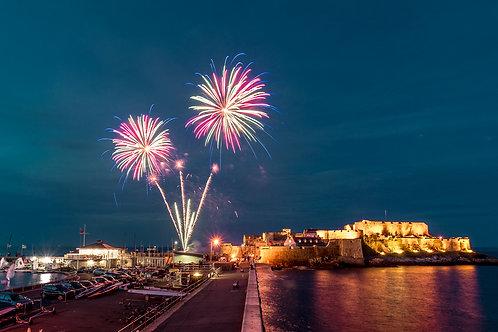 Fire Works - St Peter Port Castle Cornet