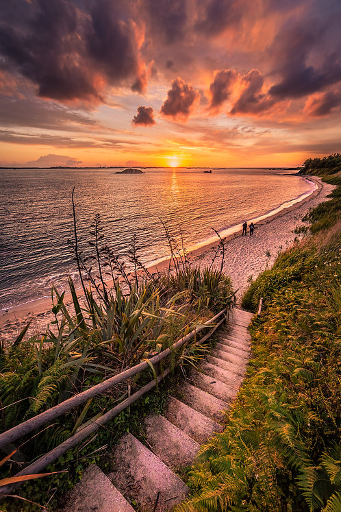 Herm - Fishermans Beach Steps