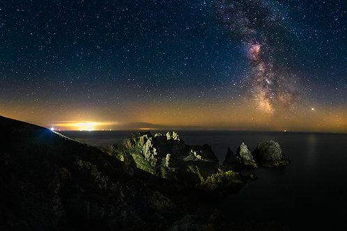 Pea Stacks Pano - Milkyway Landscape