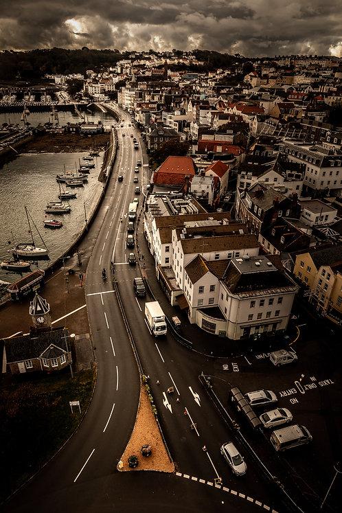 St Peter Port Guernsey - Aerial